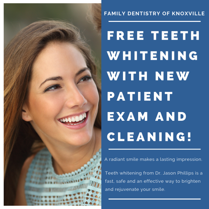 Free Teeth Whitening With New Patient Exam And Cleaning!